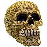 (Fantasy Gifts Bone Colored Day of the Dead Sugar Skull Coin Bank Mexican Dia De Los Muertos)