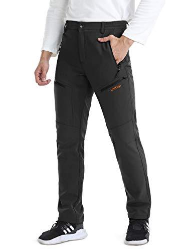 Unitop Men's Winter Warmth Hiking Pants Water-Resistant Ski Snow Pants