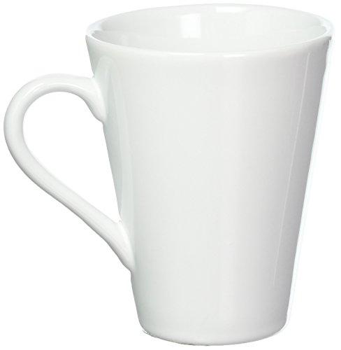 - Oxford Porcelain Coffee Mug (Set of 4), White
