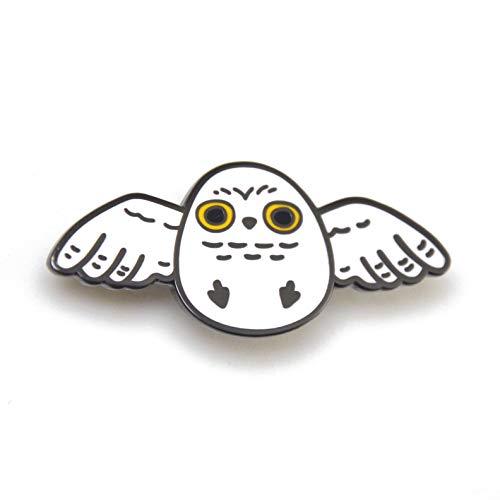 - Noristudio Snowy Owl Enamel Pin