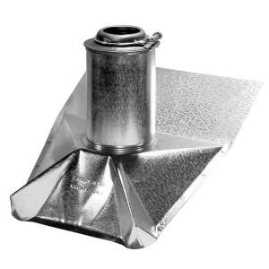 Roof Vent Pipe Boot - Mill Finish - Steep Pitch - 3 Inch (Roof Steep Vent)