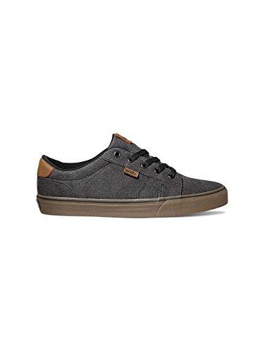 Vans Men's Bishop (Waxed Denim) Black/Gum Skateboarding Shoes VN000NLUACKS (7.5 M US)