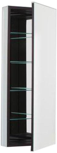 Robern PLM1640B Pl-Series Flat Mirror Medicine Cabinet, Black