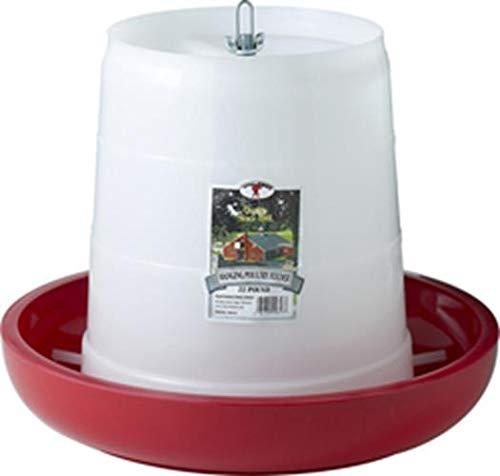- Miller Manufacturing PHF22 22-Pound Plastic Hanging Feeder, Red