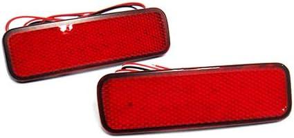 para Transit Tourneo Connect Courier Custom 2 reflectores de parachoques trasero con lente roja para luz de freno luz trasera de niebla DRL para 2012 en adelante