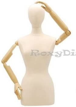 SIZE 8 FEMALE Mannequin with Head Tailors Bust Dummy Torso Round Base S2