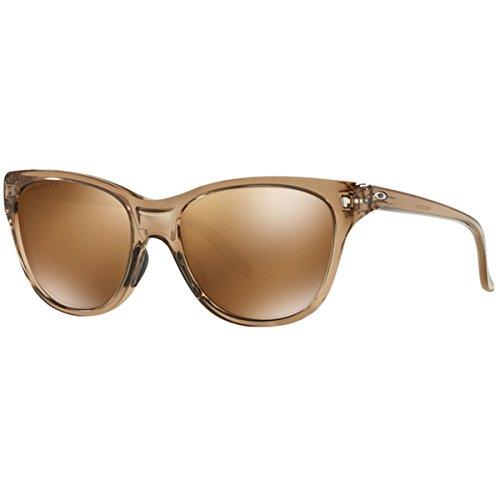 Women Oakley Sunglasses (Oakley Women's Hold Out Polarized Iridium Cateye Sunglasses, Sepia, 55.1 mm)