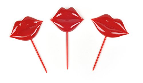 Fred LIP SERVICE Pucker Party Picks, Set of 18
