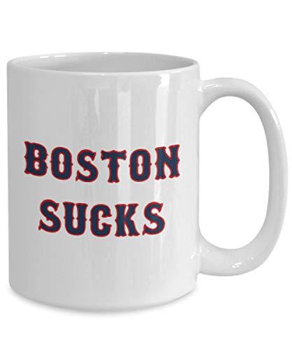 Boston Sucks Mug Gift Idea Red Sox Baseball Fan Hater Birthday Christmas Coffee Tea Cup -