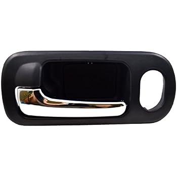 fits Honda Coupe Inside Interior Door Handle Front Driver Black Chrome Lever