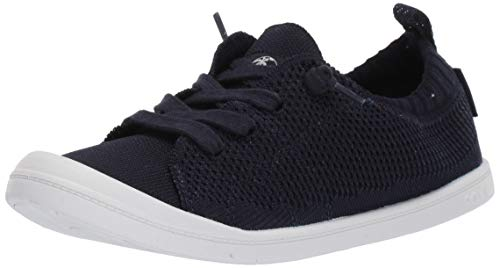 (Roxy Women's Bayshore Knit Slip On Sneaker Shoe, Blue 8 M US)