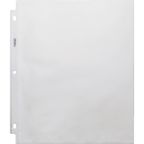 Business Source 8.5 x 11 Inches Heavyweight Top Loading Sheet Protectors - Pack of 100 - Clear (BSN74550)