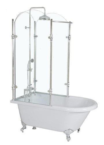 Clawfoot Tub Shower Surround.Oasis 65 65 Vintage Clawfoot Tub With Tempered Glass