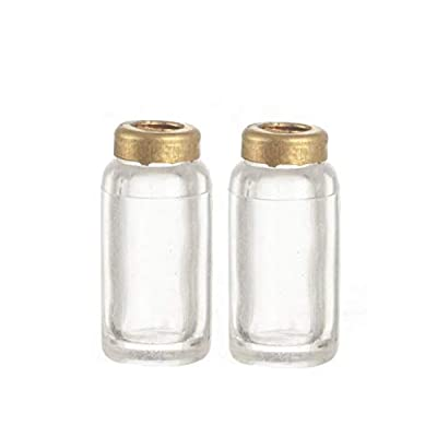 Melody Jane Dollhouse 2 Empty Mason Canning Preserving Jars with Lids Miniature Accessory: Toys & Games