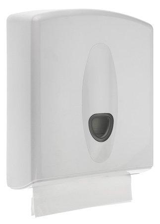 PlastiQline – 2020 dispensador de toallas de papel de plástico con candado a la pared montaje