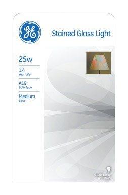 GE Lighting 46645 25-Watt Stained Glass Light Bulb ()