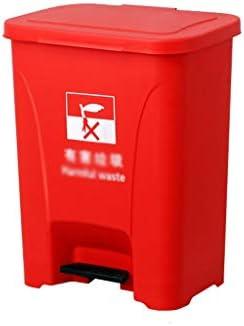 滑らかな表面 公園、地下鉄の駅に適しリサイクルビン肥厚大容量防水ゴミ箱のゴミ仕分けボックス リサイクル可能なデザイン (Color : Red, Size : 28.5*36.5*46.5CM)