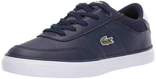 Lacoste Unisex Court-Master Sneaker, Navy/White, 12. Medium US Little Kid (Lacoste For Kids Boys Shoes)