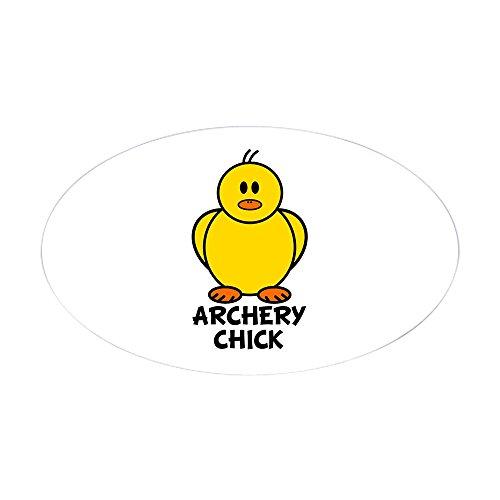CafePress Archery Chick Oval Sticker Oval Bumper Sticker, Euro Oval Car Decal