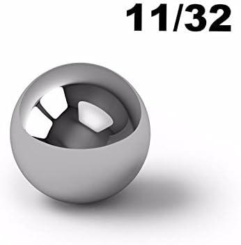"""100 Diameter Chrome Steel Bearing Balls 11//32/"""" G10 Ball Bearings"""