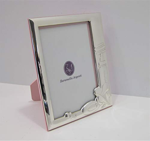 (FINE ITALIAN 925 STERLING SILVER TRINITY PINK BABY PACIFIER 4 x 6 PICTURE FRAME)