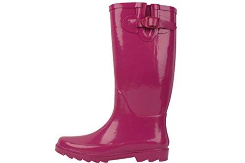 Sunville New Women's Rubber Rain Boots, Available In Multiple Styles Fuchsia