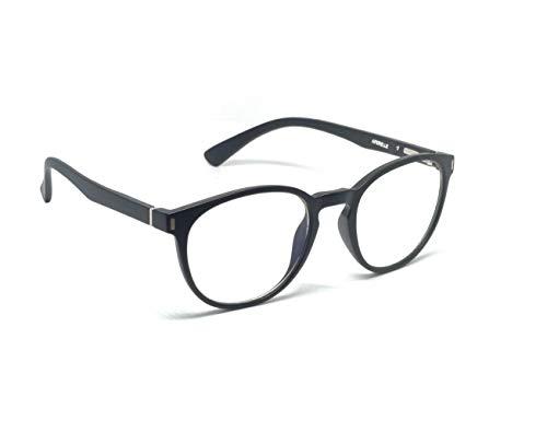 AFERELLE Unisex Round Photochromatic Day and Night Antiglare glasses (Black, Free Size)