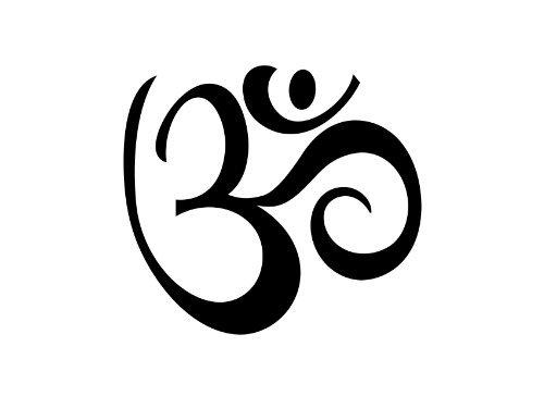 Temporary Tattoo - Yoga Om/Aum Set - Aum Semi-Permanent Tattoo - Yoga Gift and Accessory - Size 2.5