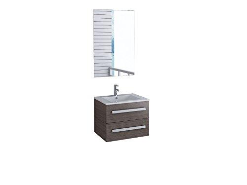 Badmöbel Florida Gäste WC Waschtisch Set mit 2 Schubladen 5 moderne Dekore