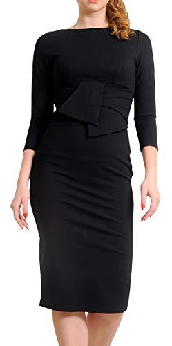 Marycrafts Womens Elegant Lady Vintage Evening Wiggle Midi Dress 8 Black