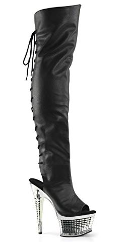 heels Black platform Knee High Boots shoes Cross T bandage dqFPA8