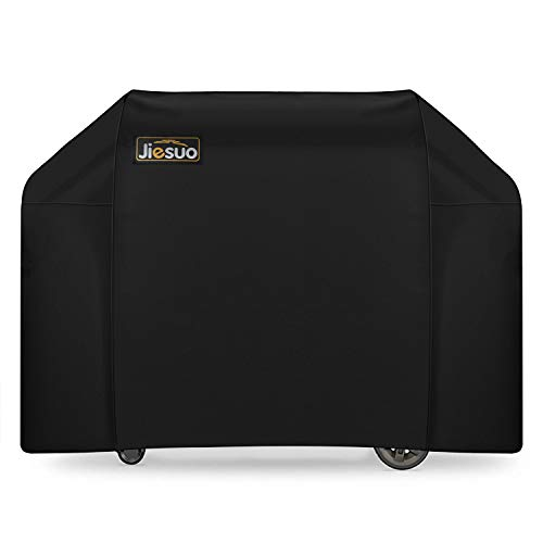 JIESUO BBQ Gas Grill Cover for Weber Genesis: Heavy Duty Waterproof 65 Inch 4 Burner Weather Resistant Outdoor Barbeque Grill Covers