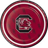 Plate Christmas University (Pack of 96 NCAA South Carolina Gamecocks Round Tailgate Party Paper Plates 7