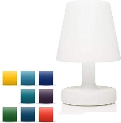 MaxxHome - Lámpara de mesa LED resistente al agua, con mando a ...