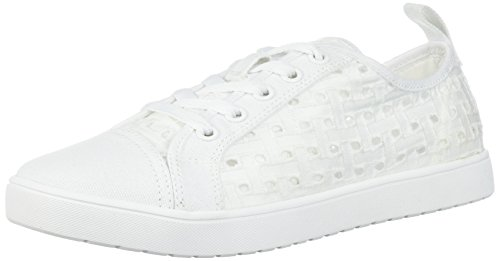 Koolaburra by UGG Women's W Kellen Low Lace Denim Sneaker, White, 06 Medium US