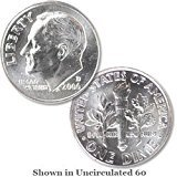 Brilliant Uncirculated 2006-D Roosevelt Dime