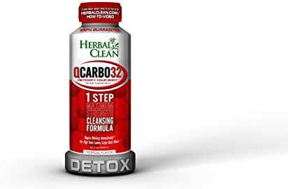 Herbal Clean Qcarbo32 with detoxify your body, herbal supplementl, 32 Fluid  Ounce