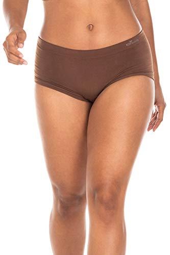 (Boody Body EcoWear Women's Boyleg Briefs Seamless Boyshort Underwear Made from Natural Organic Bamboo Viscose – Soft Breathable Eco Fashion for Sensitive Skin - Nude 6, X-Large)