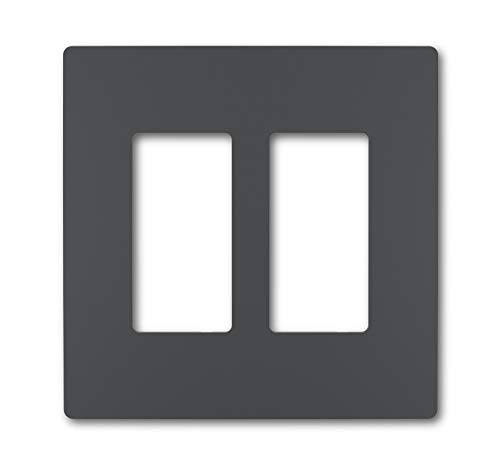(Legrand - Pass & Seymour radiant RWP262GCC6 Two-Gang Screwless Wall Plate, Graphite Finish)