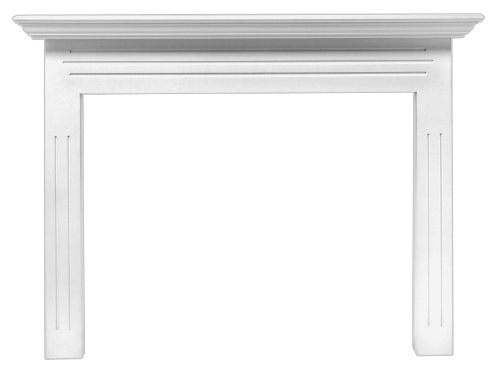Pearl Mantels 510-48 Newport 48-Inch Fireplace Mantel Surround with Medium Density Fiberboard, White (Surround Fireplace Buy)