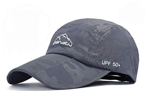 23e6aae81 ELLEWIN Unisex Baseball Cap UPF 50 Unstructured Hat with Foldable Long  Large Bill