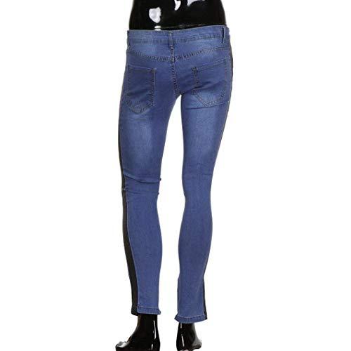Nero Cerniera Denim Stretch Uomo Cargo Con Fit Jogging Outdoor Destroyed Ragazzi Pantaloni Jeans Casual Frayed Giovane Slim Banq7p1