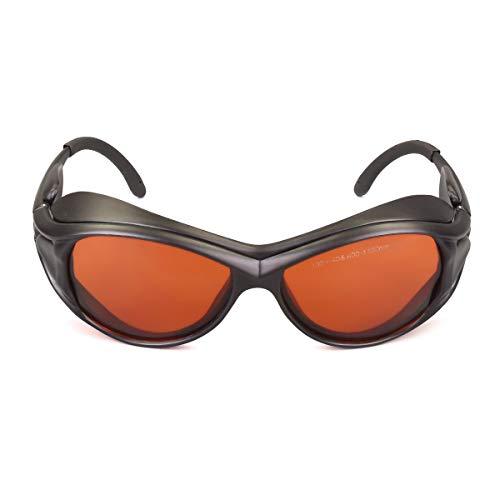 Laser Wavelength - OD 6+ 190nm-550nm / 800nm-1100nm Wavelength Professional Laser Safety Glasses for 405nm, 450nm, 532nm, 808nm,980nm,1064nm, 1080nm, 1100nm Laser (Style 2)