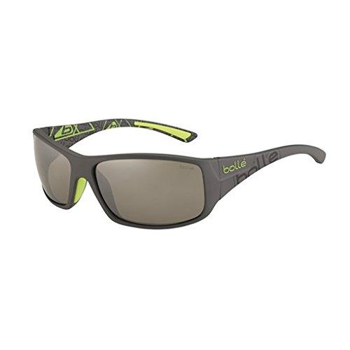 Bolle Kingsnake Sunglasses, Matte Smoke/Green TNS Gun ()