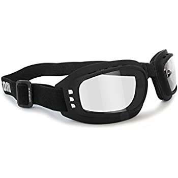 Motorcycle Goggles Riding Glasses Photochromic Antifog - Adjustable Strap - Ventilated - Bertoni Italy F112A Motorbike Goggles