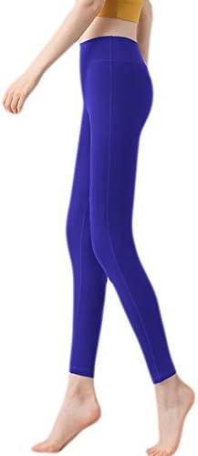 女性のハイウエストのフィットネスパンツ、速乾性のスポーツパンツ、タイツを実行している非視点4ウェイストレッチエクササイズ (Color : D, Size : L)