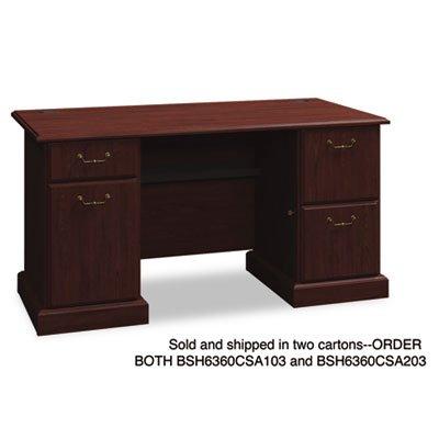 BSH6360CSA203 - Bush 60amp;quot; W Double Ped Desk B/B/F (Double Ped Table)