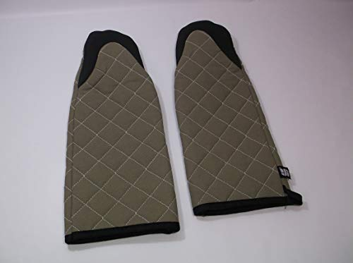 San Jamar 810PM17 Set of 2 - (2) Puppet Style Oven Mitts 17 inch 500 Degrees F Resistance Cotton Neoprene - Brand New, lot of 2 restaurant bakery by San Jamar (Image #1)