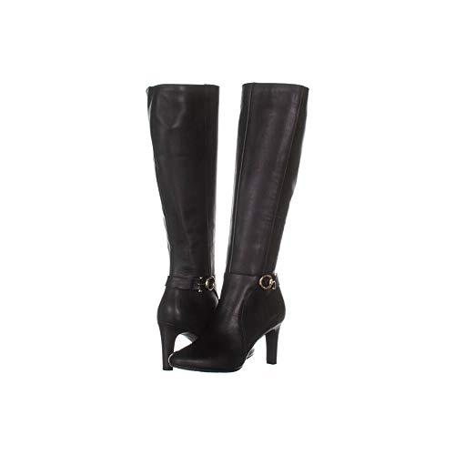 Price comparison product image Bandolino Womens Lella Leather Almond Toe Knee High Fashion,  Black,  Size 8.5
