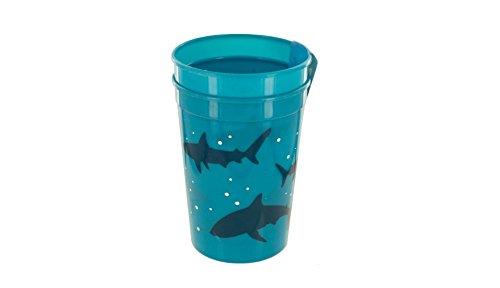 Cool Blue Shark Plastic Cups Set - Pack of 24